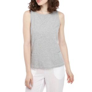 Eileen Fisher Boat neck Tank with Pockets